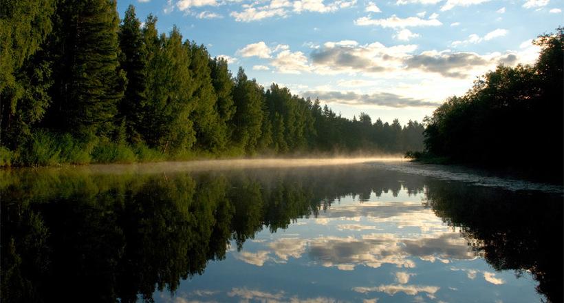 Россонь: единственная река в России, которая течет то вперед, то назад