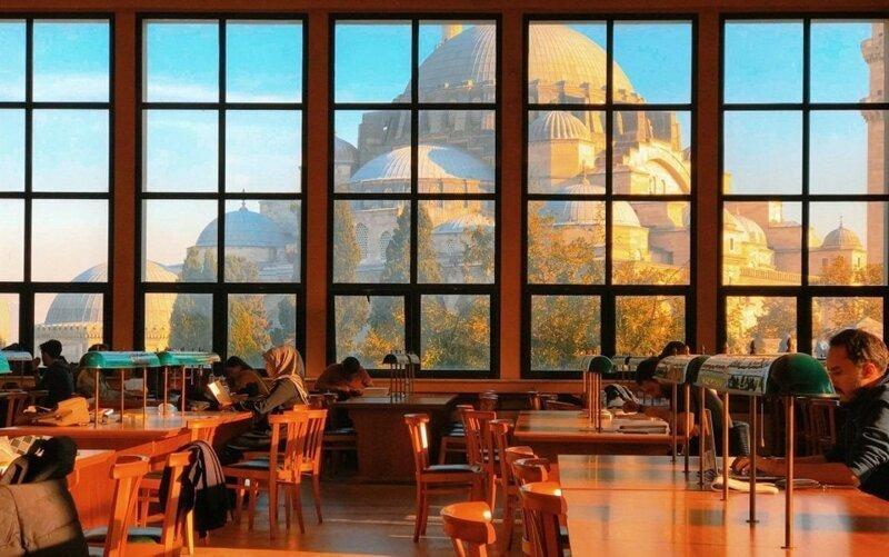 19. «Вид из библиотеки Стамбульского университета» в мире, вещи, кадр, красота, подборка, удивительно, фото