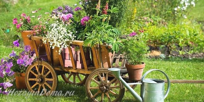 Сад в деревенском стиле – место для реальной жизни