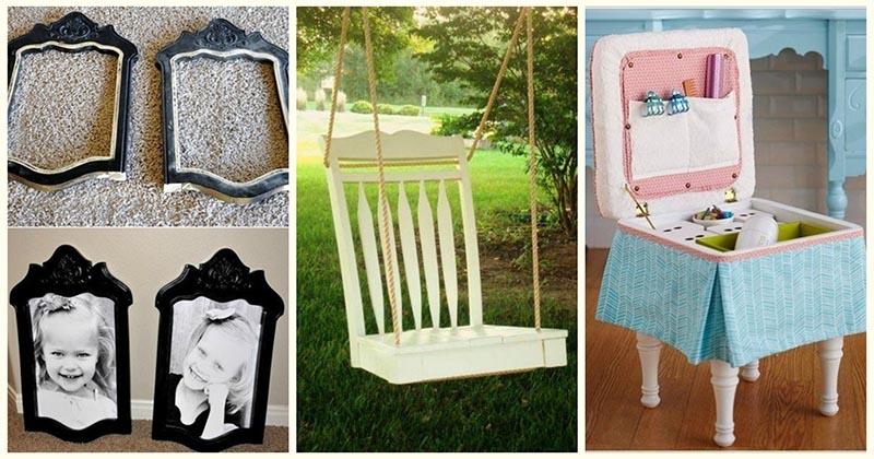 10 свежих и практичных идей по переделке ненужных стульев