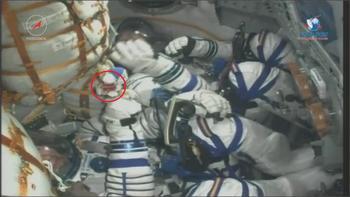 Талисман «Трактора» отправился в космос