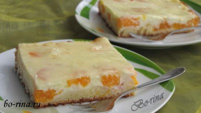 Schmandkuchen — сметанный пирог (с мандаринами)
