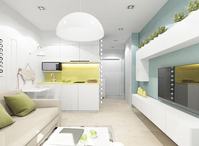 Дизайн маленькой квартиры студии: зонирование, лайфхаки и хитрости