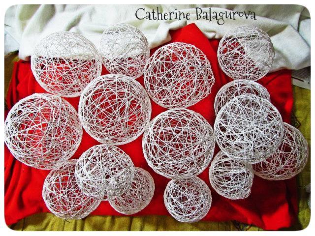 Как сделать шары из ниток и …
