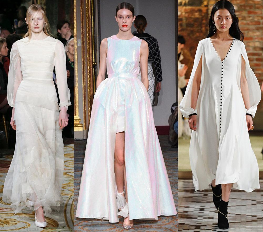 Модные белые платья 2018-2019 года