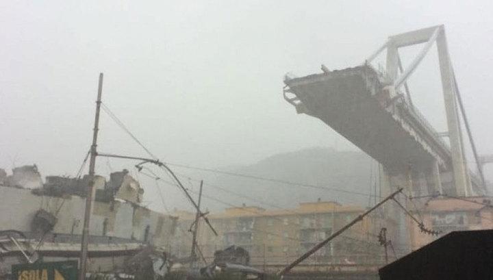 Обрушение моста в Генуе: В Р…