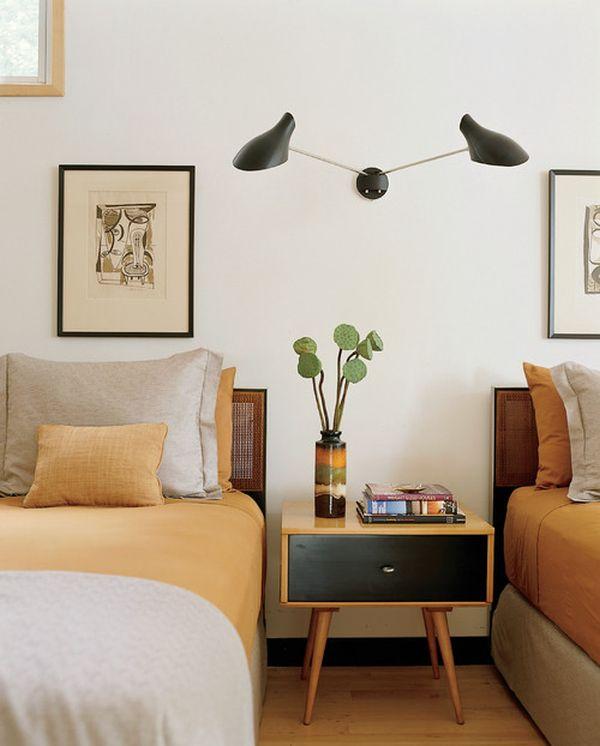 Стильный ретро декор спальной комнаты