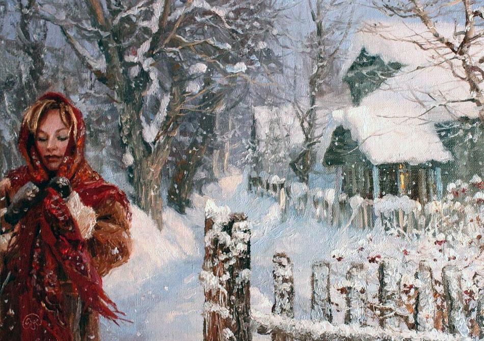 Румяная зимушка-зима — задорные деревенские мотивы в творчестве Владимира Жданова