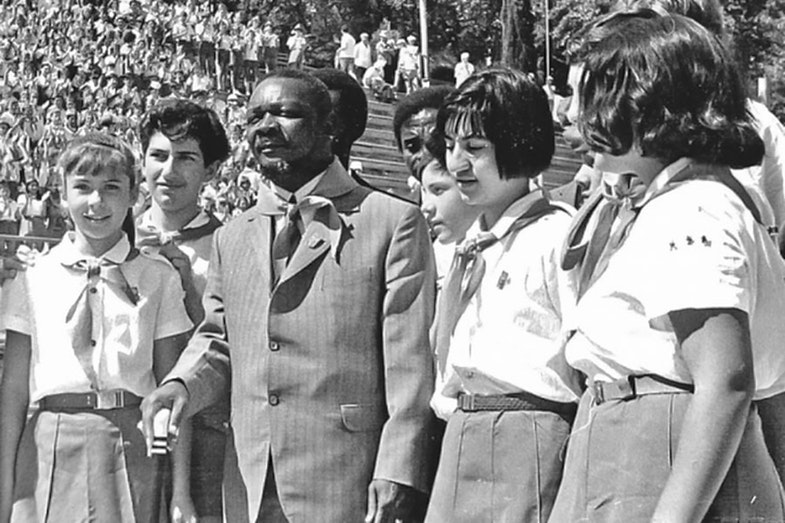 Jean-Bedel Bokassa in the pioneer camp ' data-thumb='https://was.imgix.net/wp-content/uploads/2018/05/Bokassa_was_05.jpg?crop=faces&fit=crop&fm=pjpg&h=70&q=75&w=98
