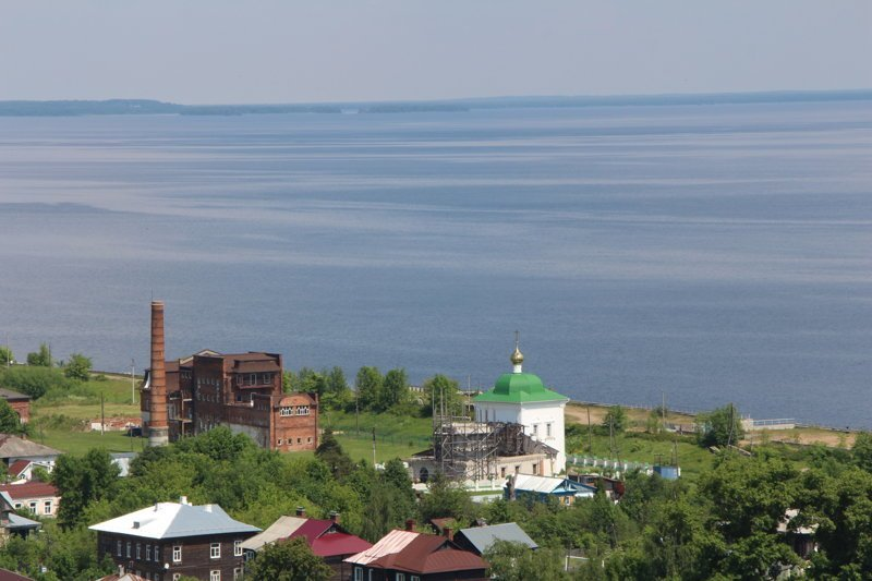 Городок находится на самом краю Горьковского водохранилища Города России, ивановская область, красивые города, пейзажи, путешествия, россия