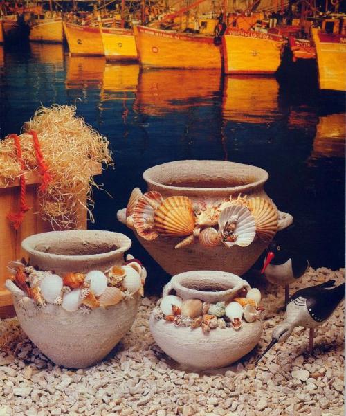 Декор старых глиняных горшков