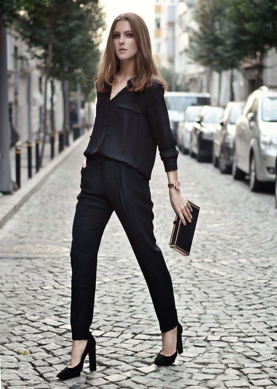 Черные блузки и рубашки с чем носить фото 8