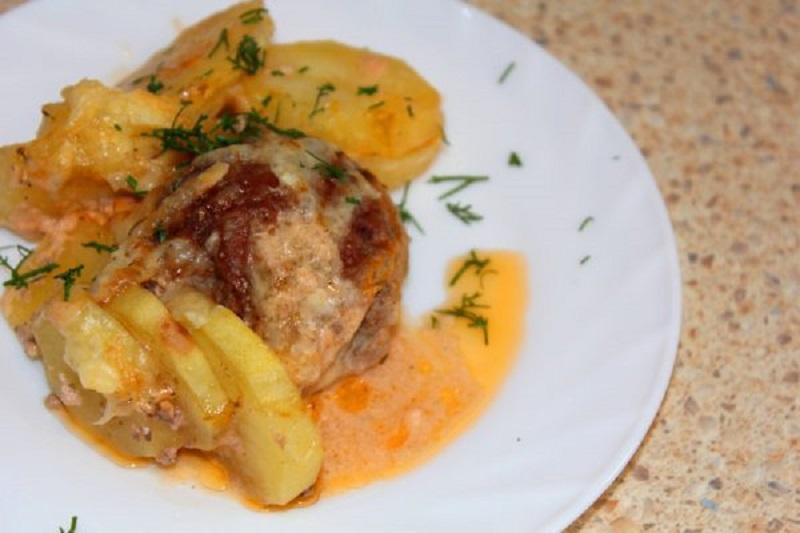 вкусная запеканка с фаршем и картошкой