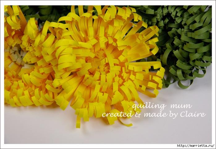 Хризантемы из бумаги. Фото мастер-класс (5) (700x482, 268Kb)