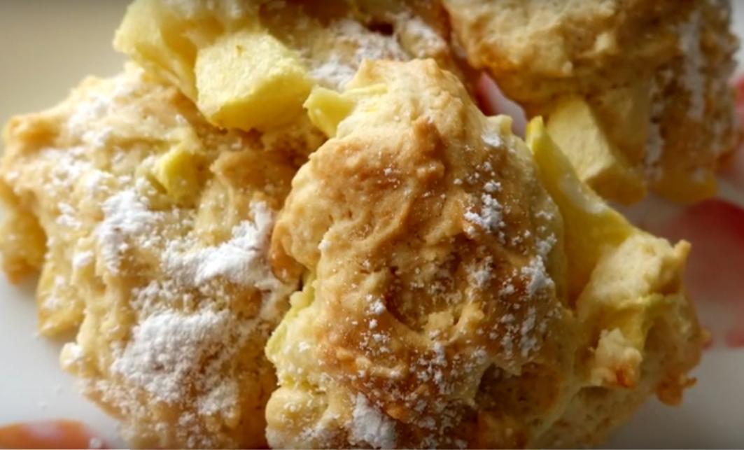 Очень вкусное печенье с яблоками