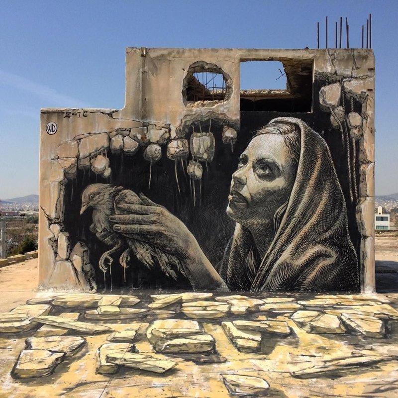Уличное искусство, которое действительно впечатляет!