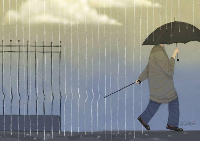 Иронические рисунки художника Андрея Попова