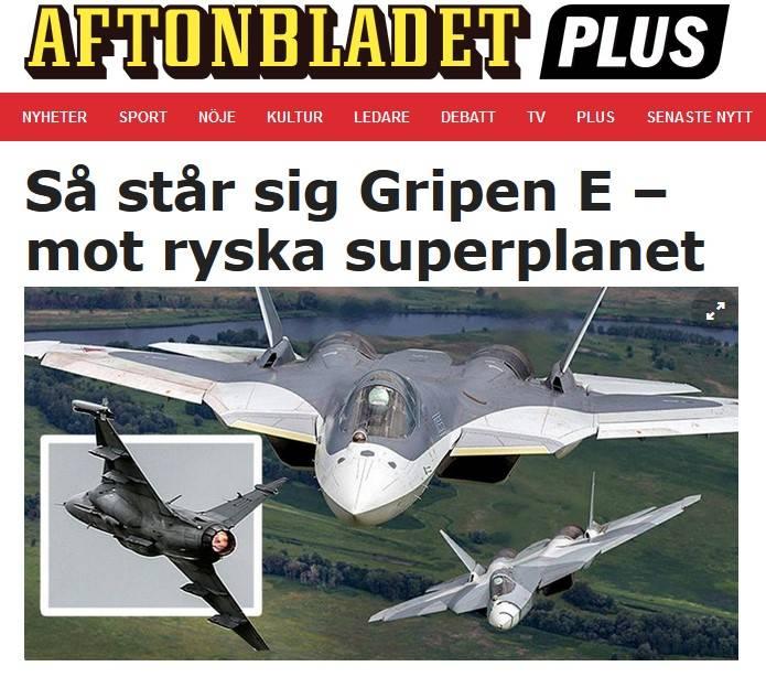 Шведы могут спать спокойно: новый «Грипен» выходит против Су-57