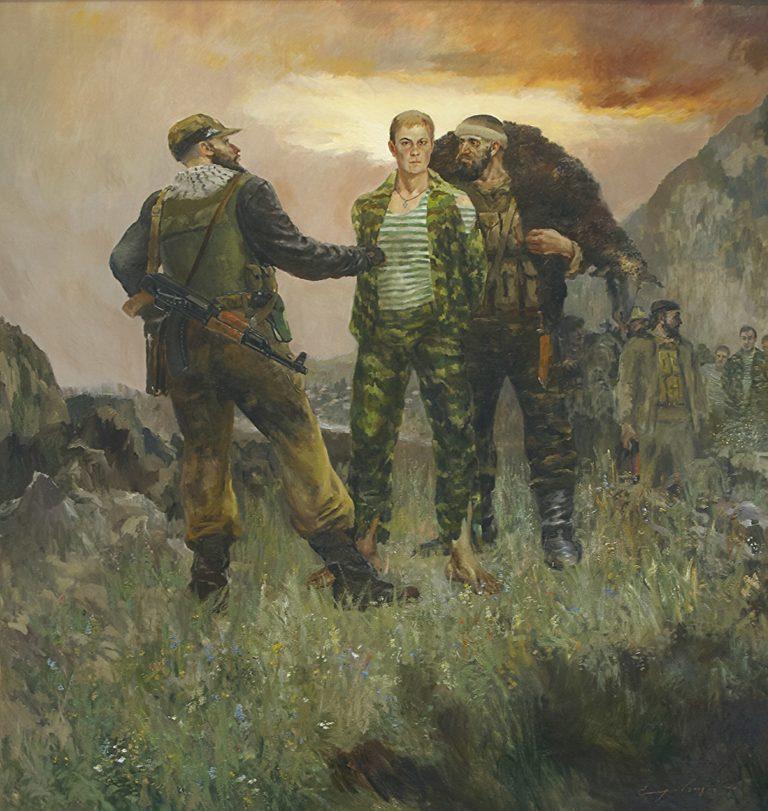 Воин в красной накидке Евгений Родионов
