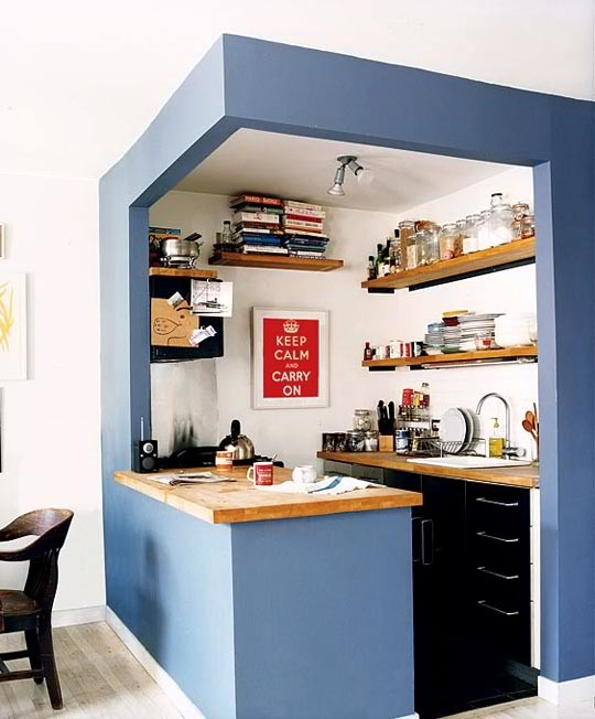 Искусственно обозначенное пространство дизайн, интерьер, маленькая кухня, полезные советы для дома, фото