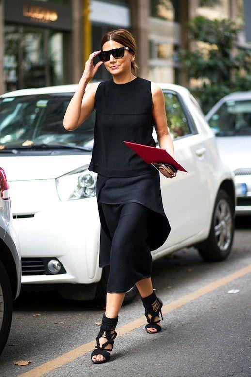 Черные блузки и рубашки с чем носить фото 4