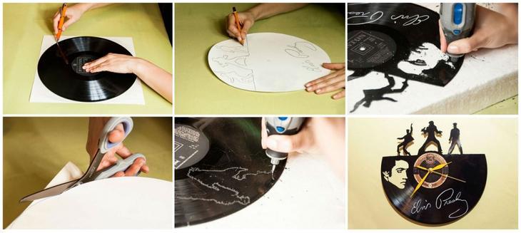 Часы из старых виниловых пластинок своими руками новая жизнь старых вещей,поделки,смастер-класс