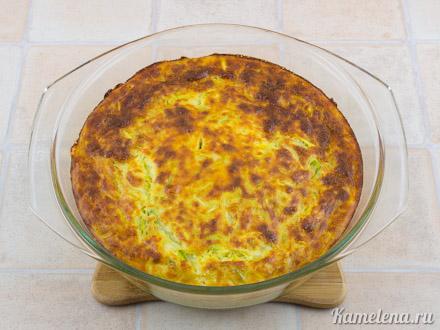 Запеканка из кабачков и плавленого сыра — 10 шаг