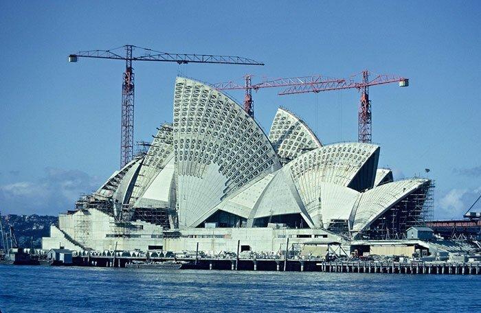 5. Сиднейская опера. Сидней, Австралия архитектура, достопримечательности, интересно, исторические фото, исторические фотографии, познавательно, сооружения, строительство