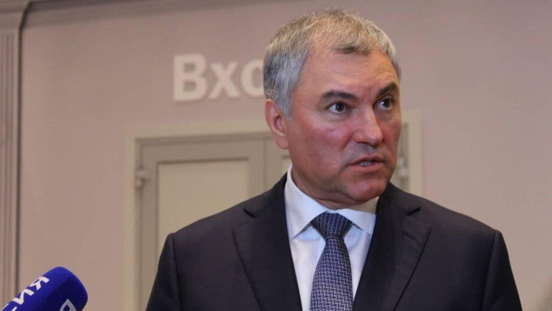 Володин допустил частичный переход депутатов Госдумы VIII созыва на удаленную работу Политика