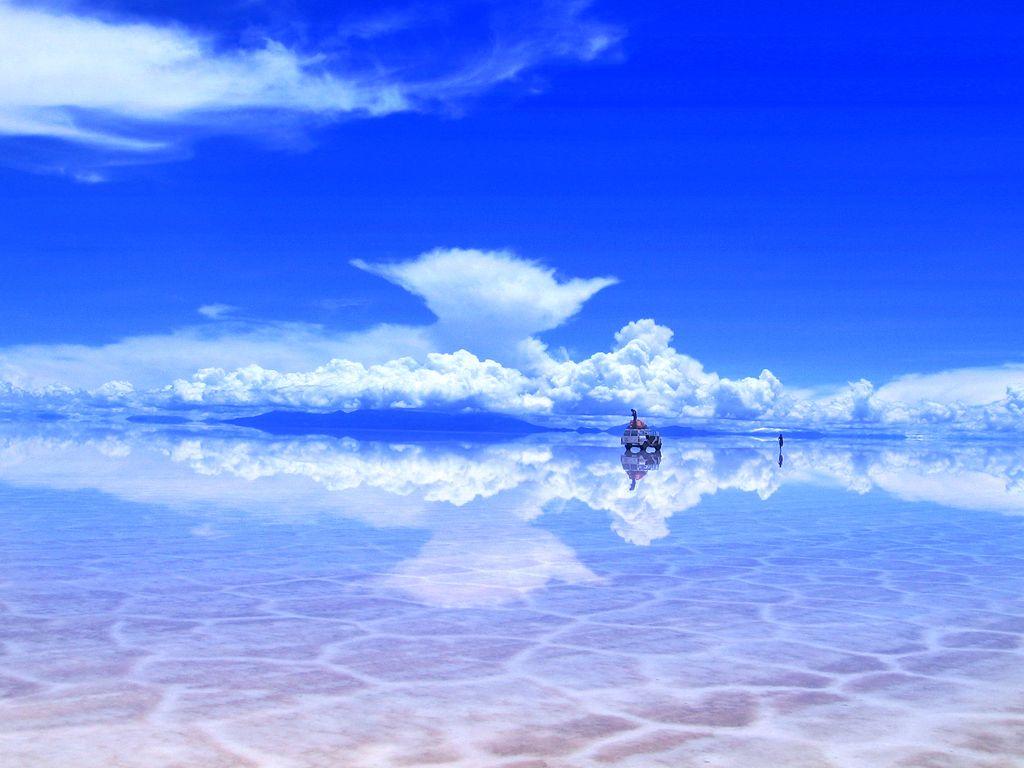Солончак Уюни, Боливия (Salar de Uyuni, Bolivia) — самое большое соленое озеро во всем мире