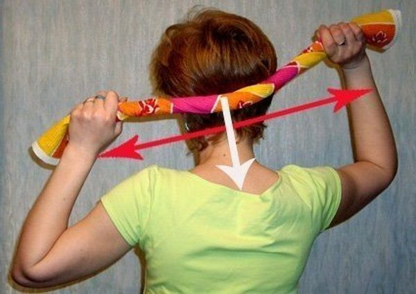 Лечебный массаж полотенцем от головной боли
