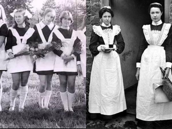 Почему советская школьная форма девочек была похожей на униформу горничных