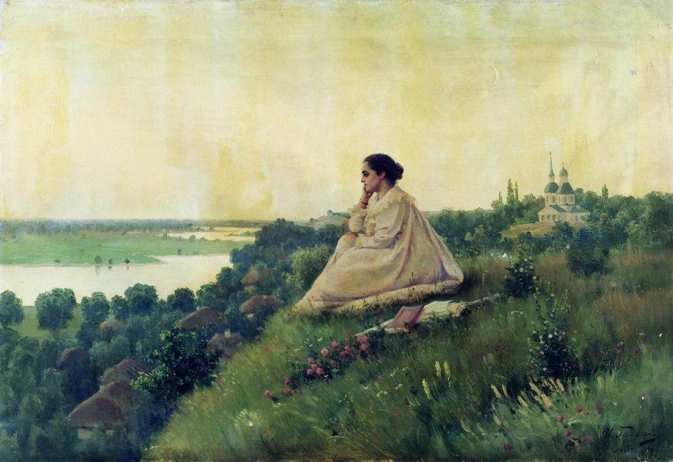 Загадочная русская душа... Художник Илья Савич Галкин (1860-1915)
