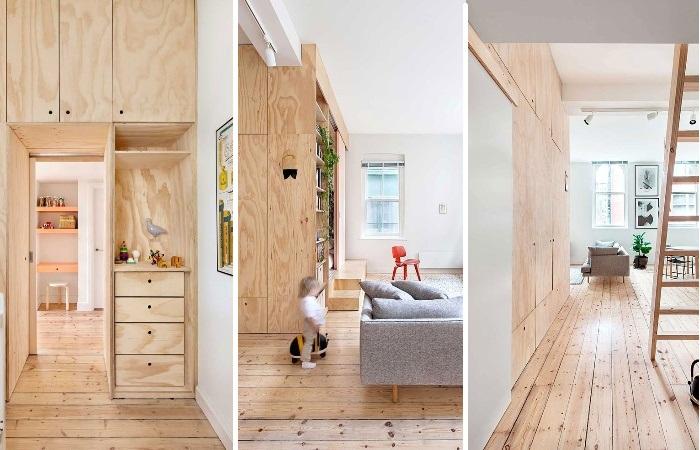 Перепланировку в квартире сделали лишь с помощью фанеры. | Фото: sundayhomestore.co.nz.