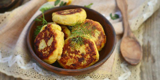 Рецепт картофельных котлет с фасолью