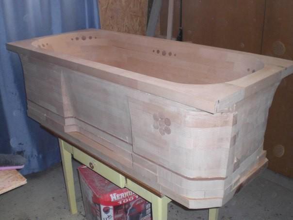 Классная самодельная деревянная ванна самоделкин