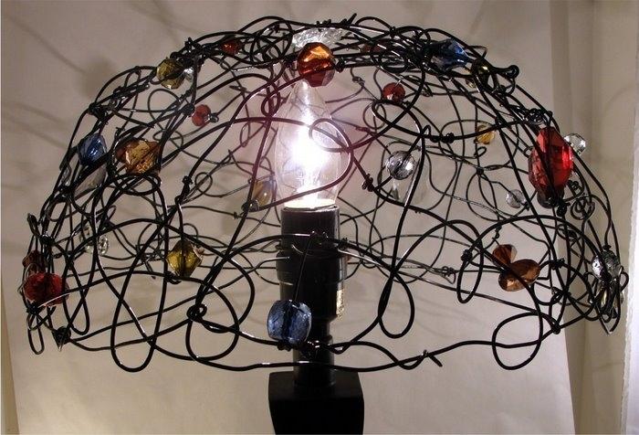 Каркас для лампы своими руками фото просьба