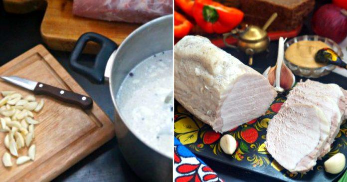 Буженина по-польски без духовки: мясо получается просто сказочное. Сочное и нежное…