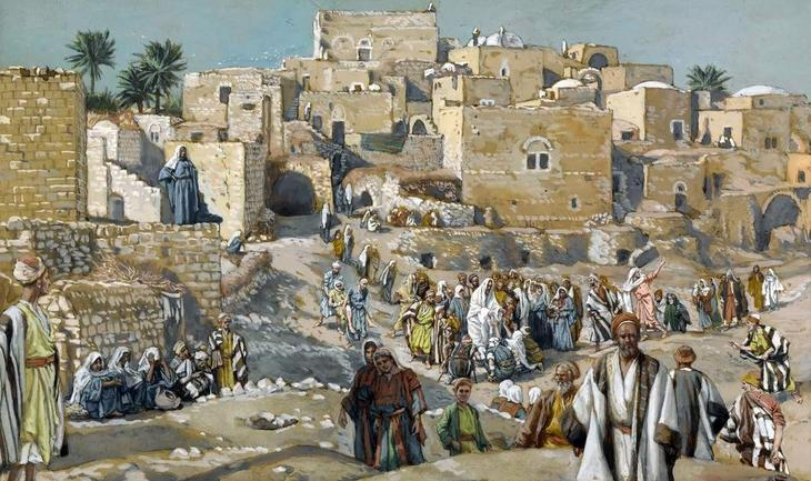 James Tissot. he-went-through-the-villages-on-the-way-to-jerusalem