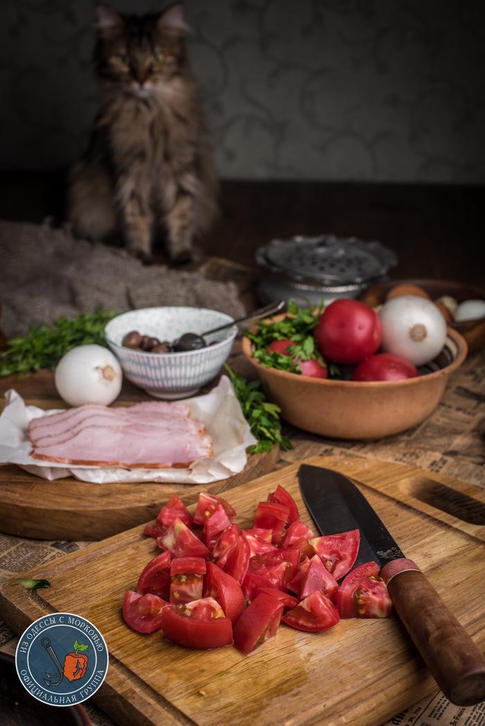 Два брата-салата для вашего лета. Шопский и Пастуший Из Одессы с морковью, Кулинария, Рецепт, Еда, Фотография, Длиннопост