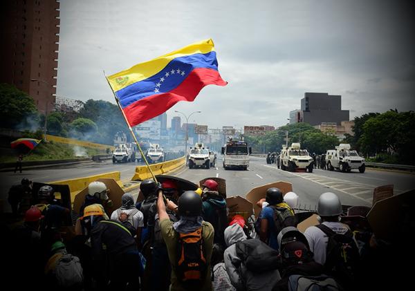 Протесты оппозиции в Венесуэле