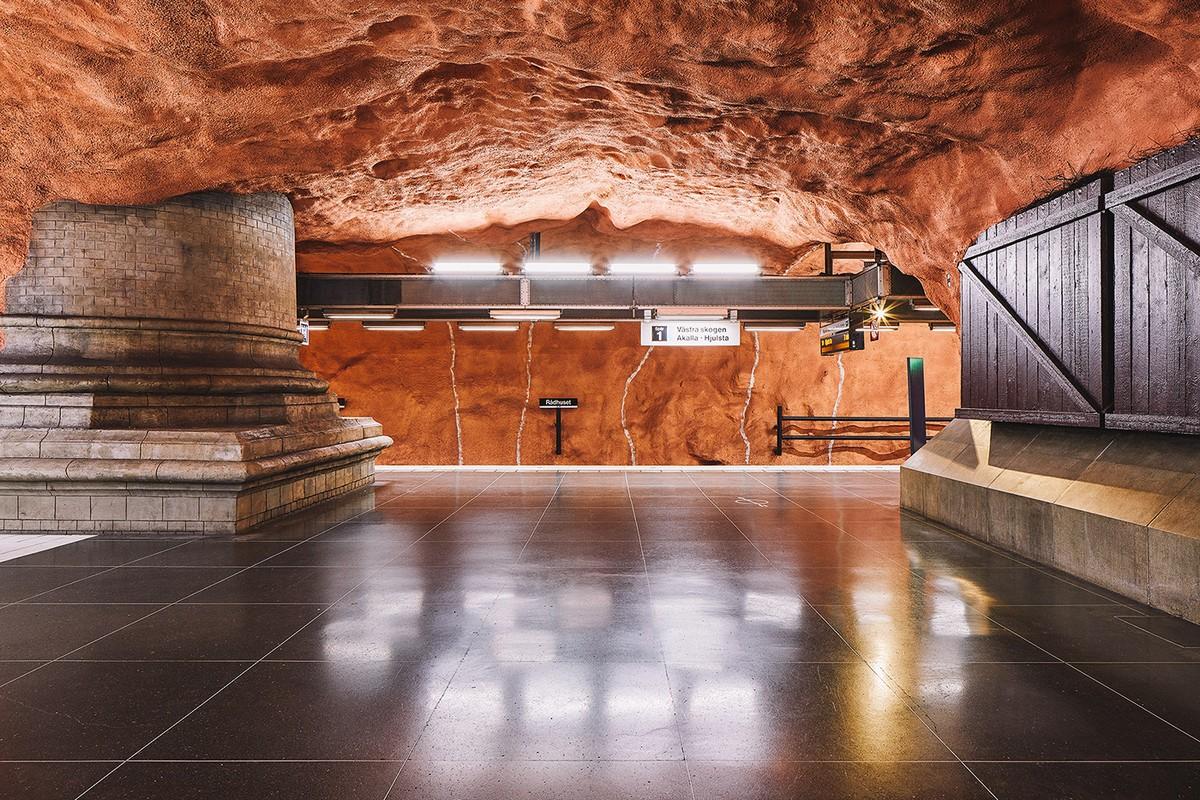 Мир стокгольмского метро на снимках Давида Альтрата метро,Стокгольм,Швеция