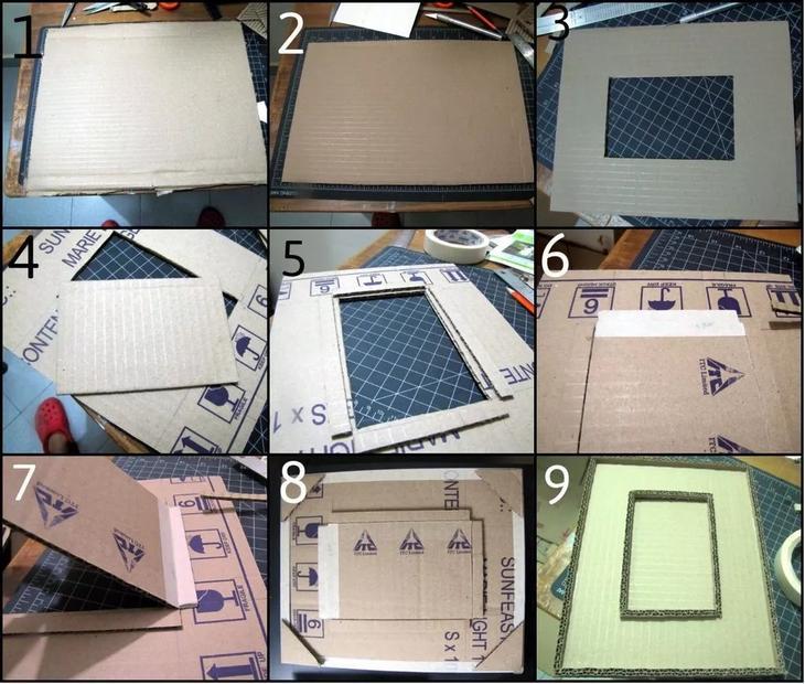 Рамки для фотографий своими руками из картона