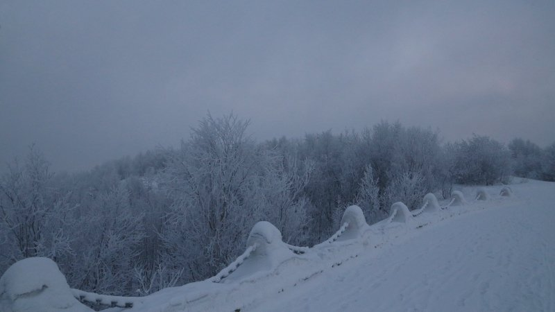 Суровая зима мурманска в фото
