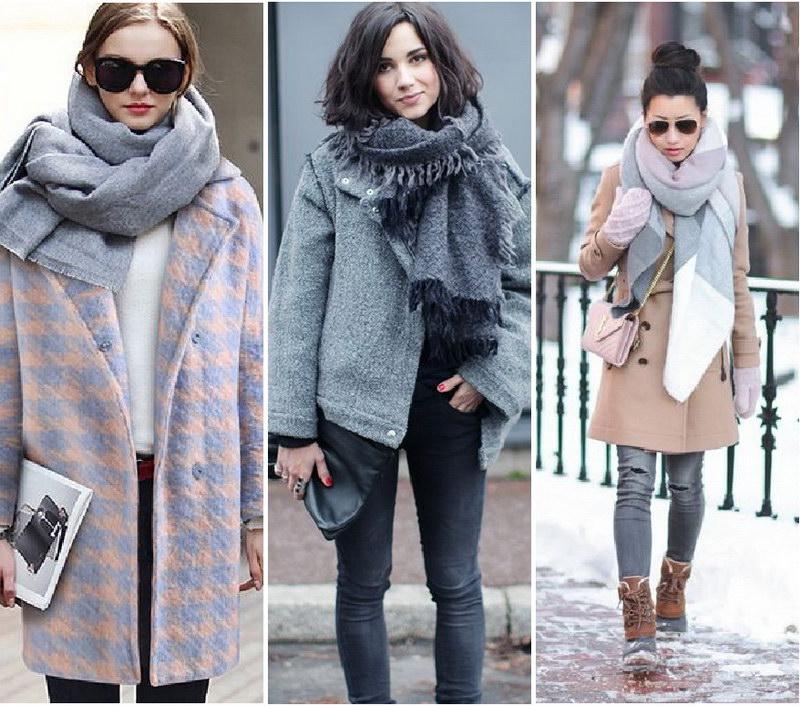 как повязать шарф на пальто фото стал описывать всех
