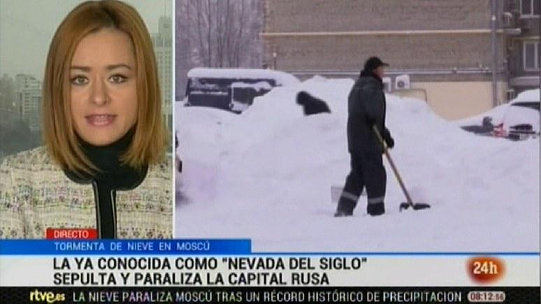 Canal 24 Horas: военные помогут дворникам бороться с последствиями «снегопада столетия»