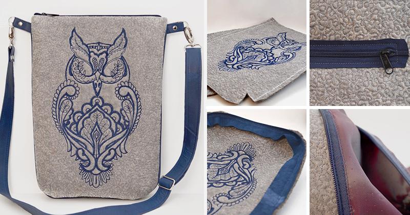 Красивая и оригинальная сумочка из войлока. Мастер класс