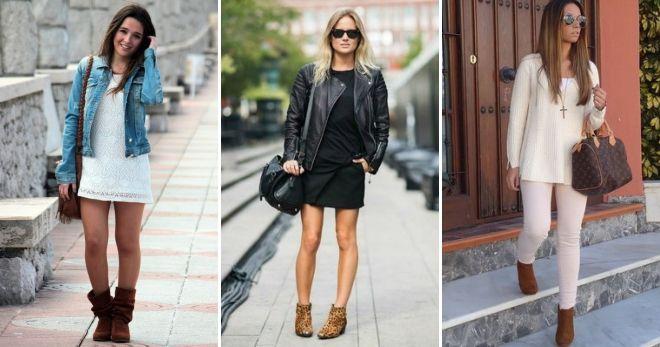 С чем носить высокие коричневые сапоги