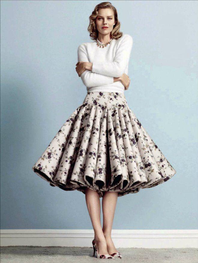 Пышная юбка в стиле 50-х