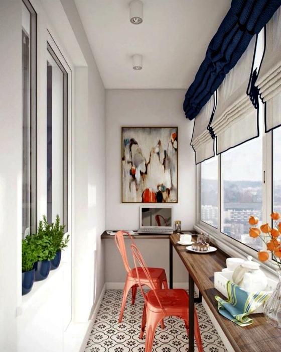 Современный балкон с барной стойкой.   Фото: Facebook.